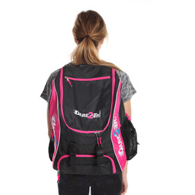 Dare2Tri Transition Backpack 33L, black/pink